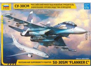 """Zvezda - Suchoj Su-30 SM """"Flanker C"""", Model Kit 7314, 1/72"""