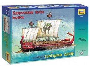 Zvezda - kartáginská válečná loď, Model Kit 9030, 1/72