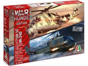 Italeri - Bell UH-1C Iroquois & Mil Mi-24D Hind, Model Kit War Thunder 35103, 1/72