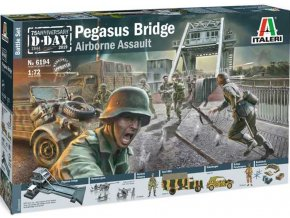 Italeri - diorama operace Deadstick - Pegasus Bridge, Model Kit 6194, 1/72