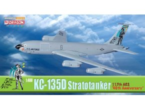 Dragon - Boeing KC-135D Stratotanker, USAF, 190th ARW, 40 let výročí, 1997, 1/400