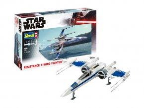 Revell - Star Wars - Resistance X-Wing Fighter, Plastic ModelKit 06744, 1/50