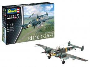 Revell - Messerschmitt Bf110 C-2/C-7, Plastic ModelKit 04961, 1/32
