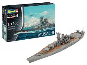 Revell - Musashi, Plastic ModelKit 06822, 1/1200