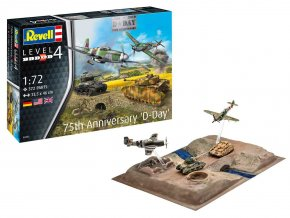 Revell - diorama k výročí 75 let vylodění v Normandii - Den D, Gift-Set 03352, 1/72