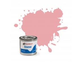 Humbrol - barva emailová 14 ml - No 57 Pastel Pink - Matt - AA0057