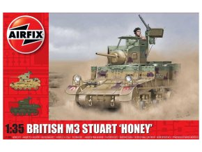 Airfix - M3 Stuart, Honey (British Version), Classic Kit A1358, 1/35
