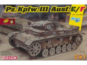 Dragon - Pz.Kpfw.III Ausf.E/F, 2 v 1, Model Kit 6944, 1/35
