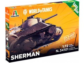 Italeri - M4 Sherman, Easy to Build World of Tanks 34101, 1/72