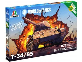 Italeri - T 34/85, Easy to Build World of Tanks 34102, 1/72