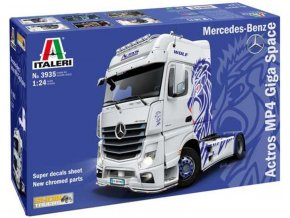 Italeri - Mercedes-Benz ACTROS MP4 Giga Space, Model Kit 3935, 1/24