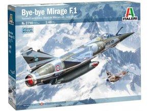 Italeri - Dassault Mirage F.1, Bye-bye MIRAGE F1, červen 2014, Model Kit 2790, 1/48