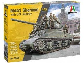 Airfix - M4A1 Sherman s americkou pěchotou, Model kit 6568, 1/35