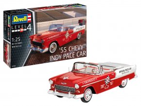 Revell - Chevrolet Chevy Indy Pace Car '55, Plastic ModelKit 07686, 1/25