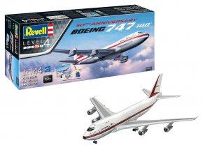 Revell - Boeing B747-100, 50 let výročí Boeing B747, Gift-Set 05686, 1/144