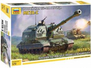 Zvezda - MSTA-S ruská samohybná kanónová houfnice, Model Kit 5045, 1/72