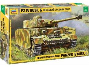 Zvezda - Panzer IV Ausf.G, Model Kit 3674, 1/35