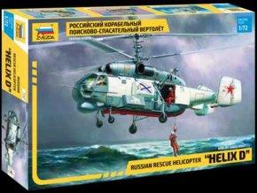 """Zvezda - Kamov Ka-27 """"Helix"""", záchranářská helikoptéra, Model Kit 7247, 1/72"""