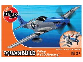 Airfix - North American P-51D Mustang, Den D, 1944, Quick Build letadlo J6046