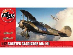 Airfix - Gloster Gladiator Mk.I/Mk.II, Classic Kit A02052A, 1/72