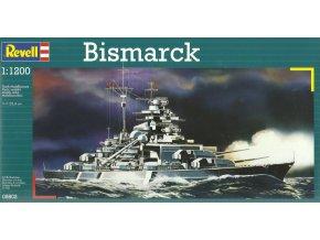 Revell - bitevní loď Bismarck, Kriegsmarine, ModelKit 05802, 1/1200