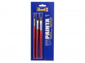 Revell - Painta Flat Set - sada 3 plochých štětců, 29610
