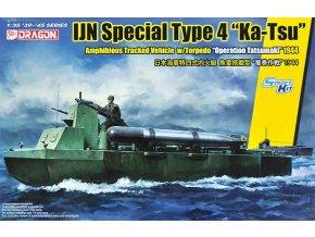 """Dragon - lehký tank Type 4 """"Ka-Tsu"""" s torpédem, japonské císařské námořnictvo, """"Operace Tatsumaki"""", Model Kit military 6849, 1/35"""