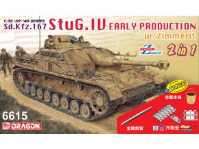 Dragon - Sturmgeschütz IV - StuG IV Early Production (2 in 1), Model Kit 6615, 1/35