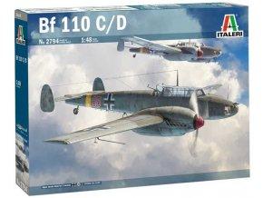 Italeri - Messerschmitt Bf 110 C/D, Luftwaffe, Model Kit 2794, 1/48