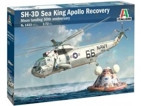 Italeri - Sikorsky SH-3D Sea King, Apollo Recovery, Model Kit 1433, 1/72