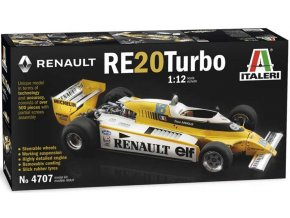 Italeri - Renault RE20 Turbo, Model Kit 4707, 1/12