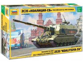 Zvezda - 2C35 Koalitsiya-SV, samohybná houfnice, Rusko, Model Kit 3677, 1/35