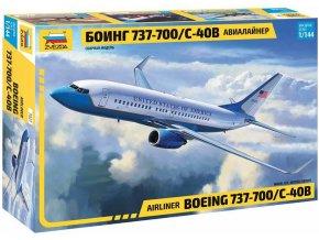 Zvezda - Boeing B737-700/C-40B, Model Kit 7027, 1/144