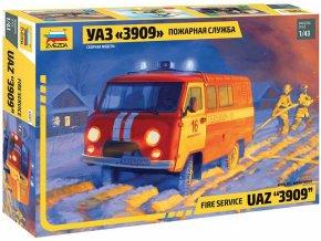 Zvezda - UAZ 3909 Hasiči, Model Kit 43001, 1/43