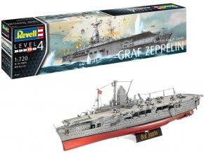 Revell - letadlová loď Graf Zeppelin, Plastic ModelKit 05164, 1/720