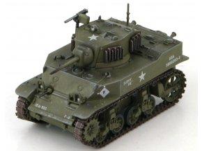 "HobbyMaster - M5 Stuart, US Army, 12th Armored Div., ""Sloppy Joe"", Německo, 1945, 1/72"
