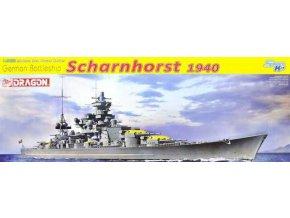 Dragon - bitevní křižník Scharnhorst, Kriegsmarine, 1940, Model Kit 1062, 1/350