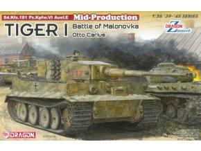 Dragon - Pz.Kpfw.VI Tiger I Ausf.E s pastou Zimmerit, Otto Carius, bitva o  Malinavu, 1944, Model Kit 6888, 1/35