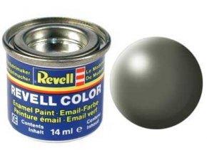 Revell - Barva emailová 14ml - hedvábná šedavě zelená (greyish green silk), 32362