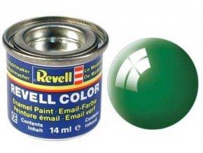 Revell - Barva emailová 14ml - lesklá smaragdově zelená (emerald green gloss), 32161