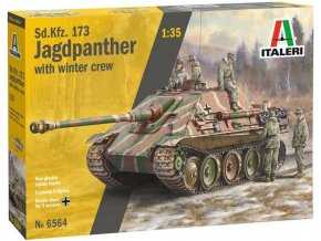 Italeri - Sd.Kfz.173 Jagdpanther s posádkou, Model Kit 6564, 1/35