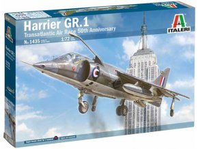 Italeri - Hawker Siddeley Harrier GR.1, Transatlantic Air Race 50th Ann., Model Kit 1435, 1/72