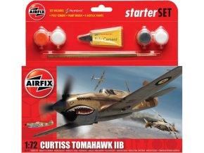 Airfix - Curtiss Tomahawk IIB, RAF, 112. Sqn., Libye, 1941, Starter Set A55101, 1/72