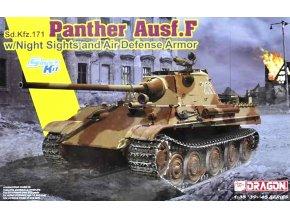 Dragon - Sd.Kfz.171 Panther Ausf.F s nočním viděním a protileteckým panceřováním, Model Kit 6917, 1/35