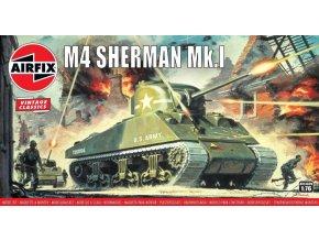 Airfix - Sherman M4, Classic Kit VINTAGE A01303V, 1/76