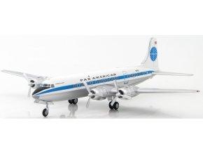 "Hobbymaster - Douglas DC-6, dopravce Pan American, ""N6110C"", USA, 1/200"