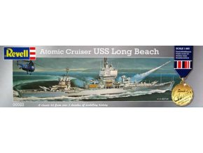Revell - USS Long Beach (CGN-9), raketový křižník, US NAVY, Plastic ModelKit 00022, 1/460