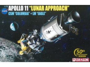 Dragon - Apollo 11 Columbia & lunární modul Eagle, Model Kit Apollo 11001, 1/72