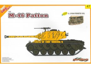 Dragon - M46 Patton + figurky americká pěchota, US Army, Pusan, Korea, 1950,  Model Kit 9147, 1/35