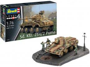 Revell - Sd.Kfz.234/2 Puma, Plastic ModelKit 03288, 1/76